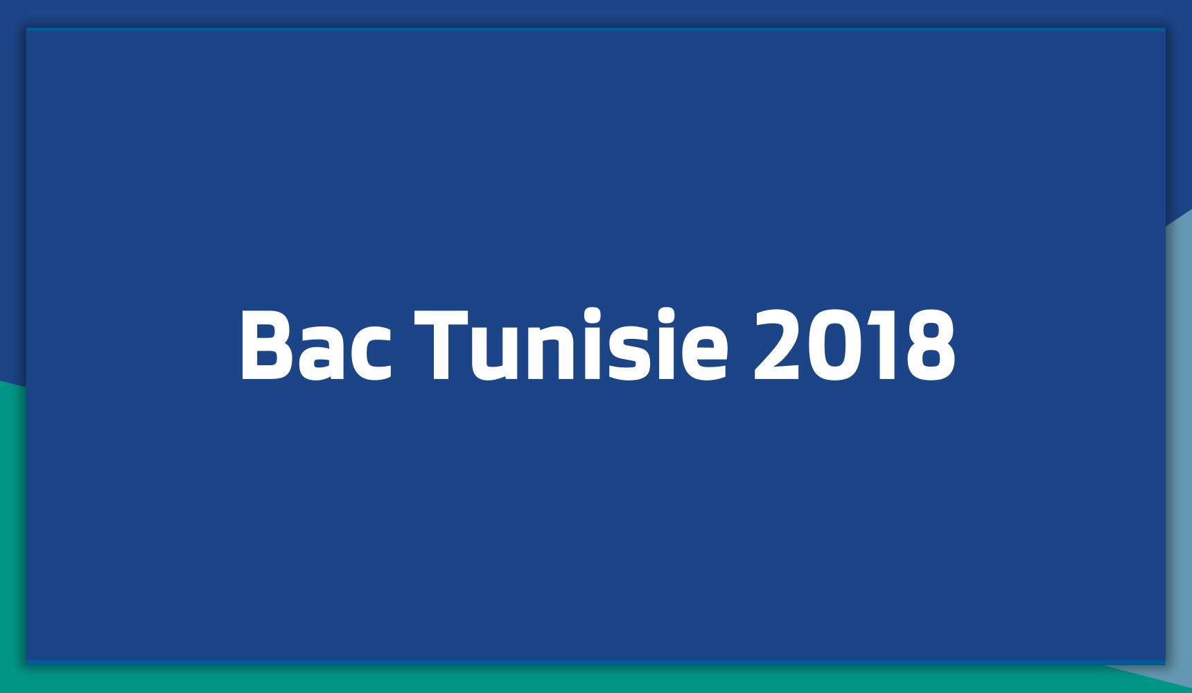 Bac Tunisie 2018